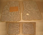 FRONT AND REAR FLOOR MAT SET