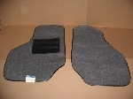 FRONT FLOOR MAT SET, ASH GREY