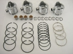 62.0.MM +0.6 MM O/S PISTON SET
