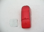 RIGHT TAIL LAMP LENS, RED USA