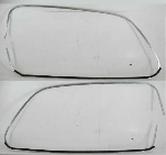 1956-60 WINDOW ALLOY TRIM PAIR