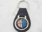 BLACK LEATHER ALFA KEY FOB