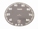 85 MPH SPEEDOMETER FACE PLATE