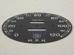 120 MPH SPEEDOMETER FACE PLATE