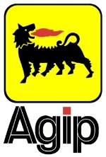 100 X 67 MM AGIP STICKER