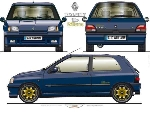 Renault Clio Williams POSTER