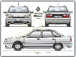 RENAULT 21 Turbo ABS POSTER