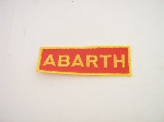ABARTH PATCH RED WITH GOLD