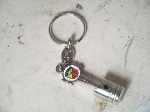 WHITE ABARTH PISTON KEY FOB