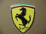 "FERRARI ""S F"" SHIELD STICKER"