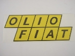 46 X 120 MM OLIO FIAT STICKER
