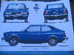 1971 FIAT 128 SL COUPE POSTER