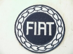 ROUND BLUE FIAT WREATH PATCH