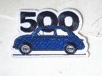BLUE FIAT 500 PATCH
