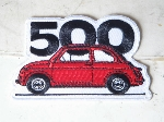 RED FIAT 500 PATCH
