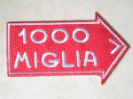 1000 MIGLIA PATCH, 85 MM LONG