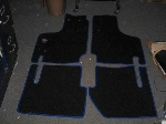 FLOOR COVER MATS W BLUE TRIM