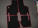 FLOOR COVER MATS W RED TRIM