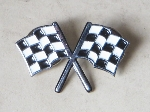 CROSSED FLAGS PIN