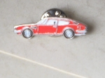 RED FIAT DINO COUPE PIN