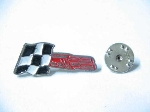 ABARTH FLAG PIN WITH MUFFLER