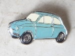 BLUE FIAT 500 F PIN,34 MM LONG