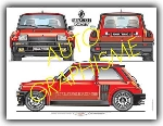 RENAULT R5 TURBO 3 VIEW POSTER