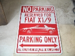 FIAT X1/9 PARKING ONLY SIGN