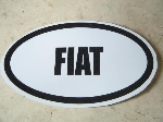 OVAL FIAT STICKER