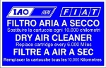 IAO/FISPA AIR FILTER STICKER