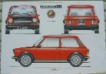 AUTOBIANCHI A112 ABARTH POSTER