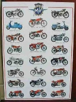 MV AGUSTA MOTORCYCLE POSTER