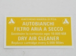 78 X 39 MM AIR FILTER STICKER