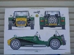CATERHAM SUPER 7 POSTER