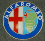 ALFA BADGE STICKER 10 CM ROUND