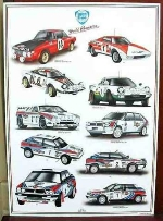 LANCIA WORLD CHAMPION POSTER