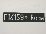 FRONT ROMA LICENSE PLATE